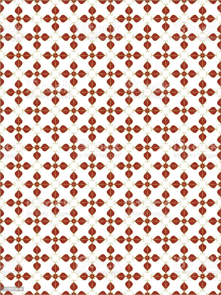 Vector of a red seamless pattern with white background royalty-free stock vector art