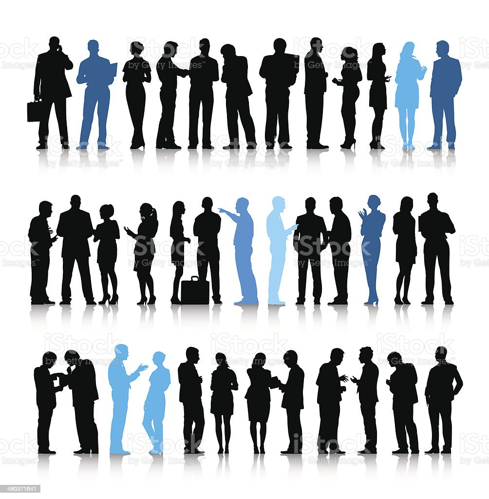 Vector of Active Business People vector art illustration