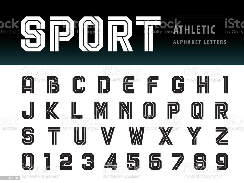 アスレチックのアルファベットと番号、幾何学的なフォント技術、スポーツ、未来の未来のベクトル ロイヤリティフリーアスレチックのアルファベットと番号幾何学的なフォント技術スポーツ未来の未来のベクトル - アルファベットのベクターアート素材や画像を多数ご用意
