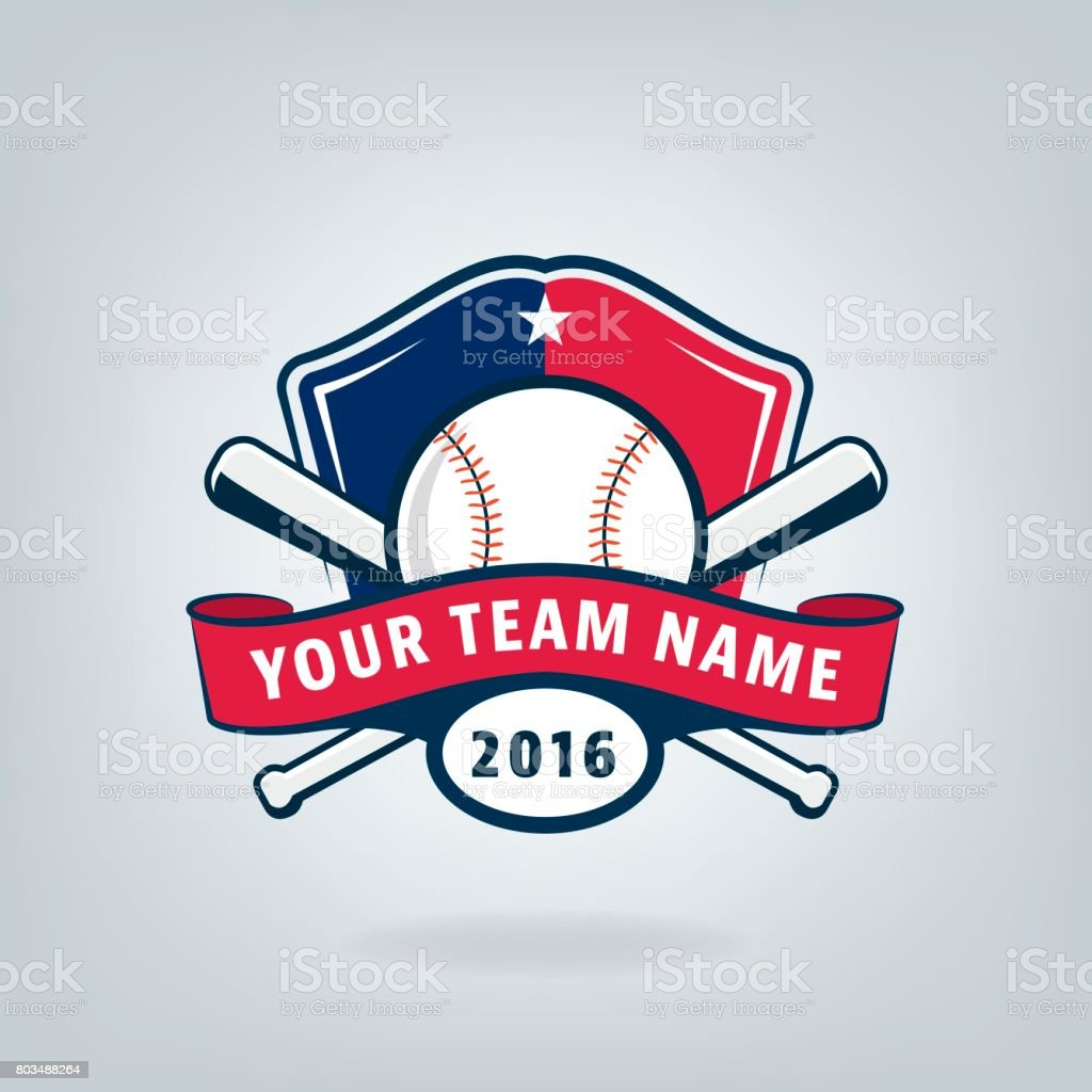 Vector of Baseball sport team  design vector art illustration