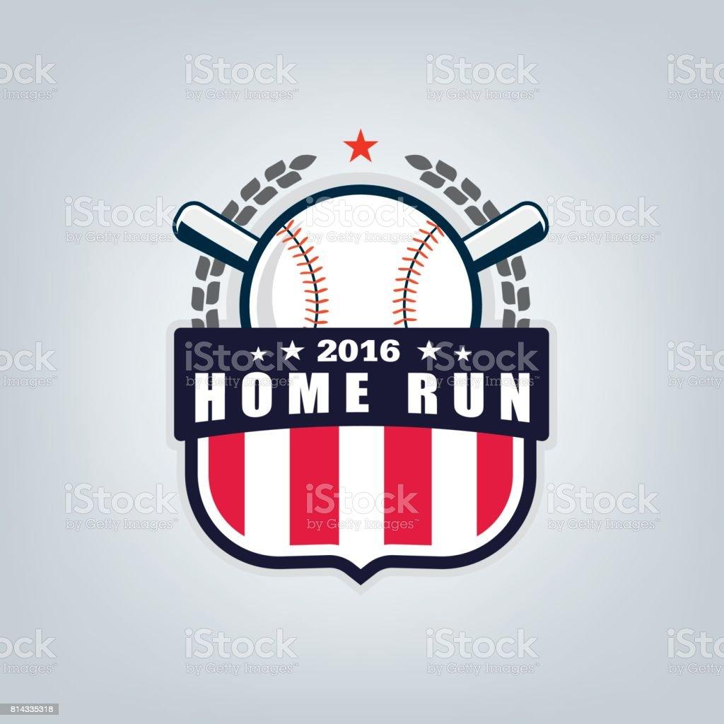 Vector of Baseball sport team logo design vector art illustration