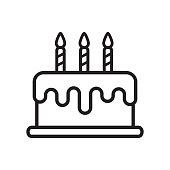 istock vector of birthday cake icon in trendy flat design 1219183025