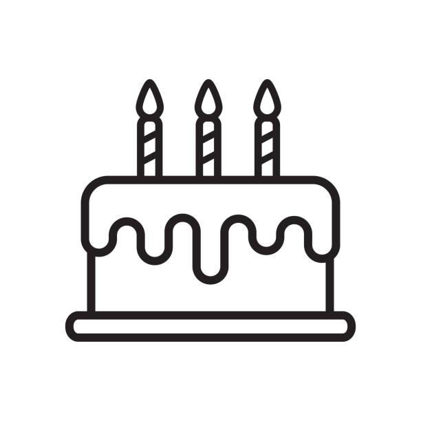 vector of birthday cake icon in trendy flat design vector of birthday cake icon in trendy flat design birthday cake stock illustrations
