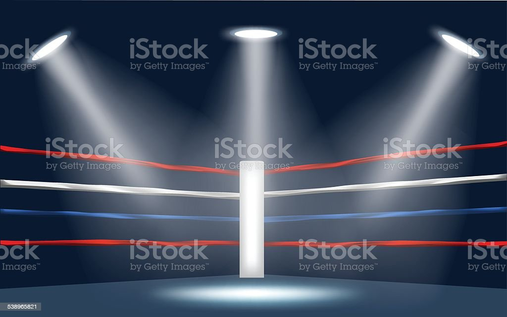 vector of boxing ring corner. vector art illustration