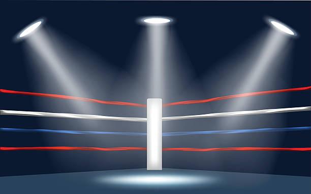 vector of boxing ring corner. - wrestling stock illustrations, clip art, cartoons, & icons