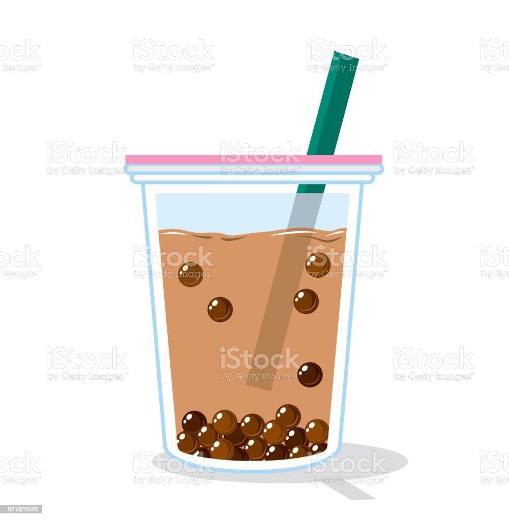 Vector of bubble tea vector art illustration