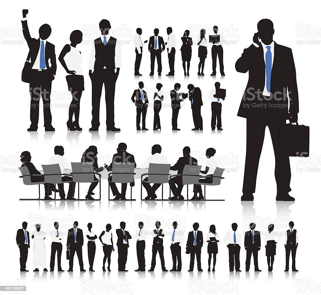 Vector of Business People vector art illustration