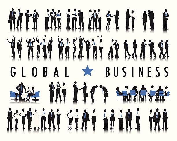 ベクトルビジネスの人々に、「グローバル事業 - ビジネスマン点のイラスト素材/クリップアート素材/マンガ素材/アイコン素材