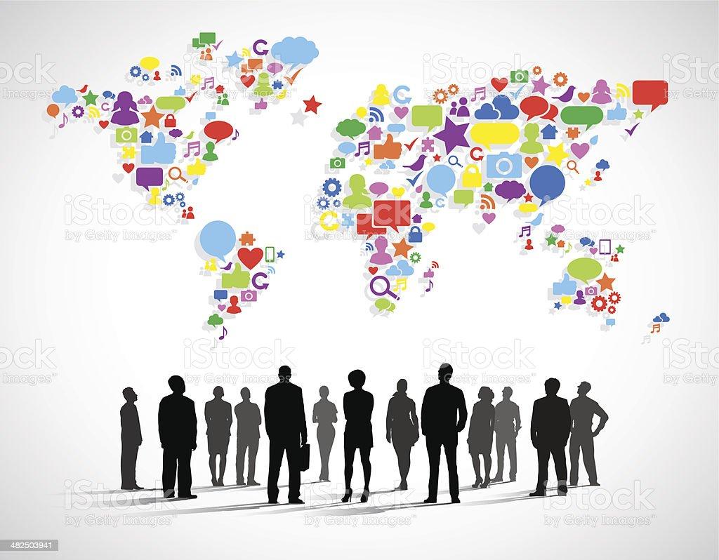 Vector of Business Social Networking vector art illustration
