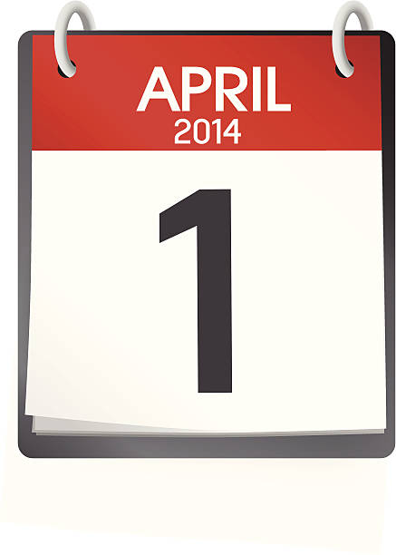 Vector Of Calendar April 1st 2014 vector art illustration