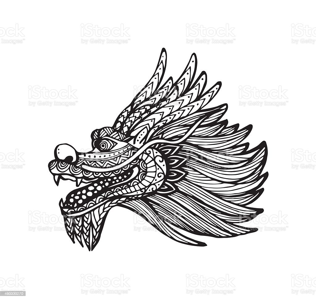 vector of chinese dragon head stock vector art 493330270 istock