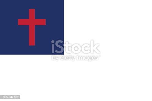 istock vector of christian flag 690107462