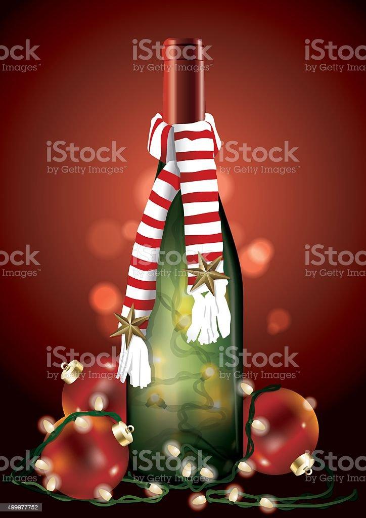 Wine Bottle Christmas Lights Clip Art, Vector Images U0026 Illustrations