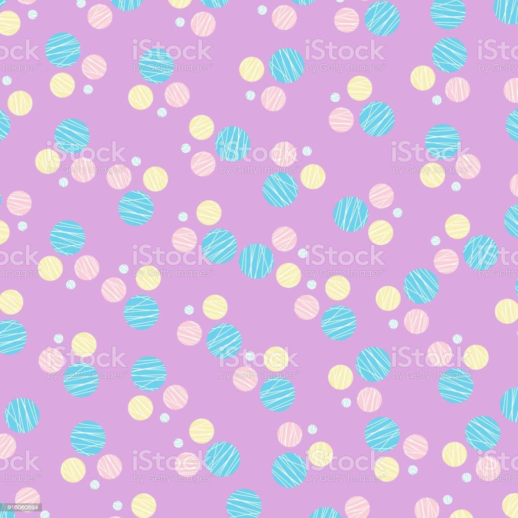 Vector of Circle pattern pastel design wallpaper - Illustration .