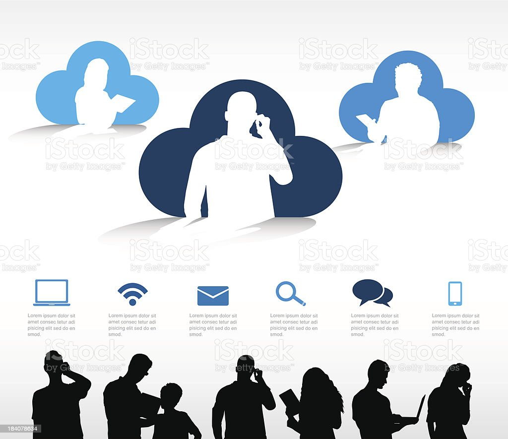 Vector of Cloud Computing vector art illustration