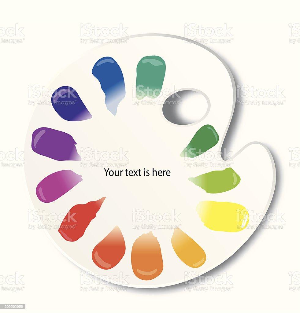Vector of color palette vector art illustration
