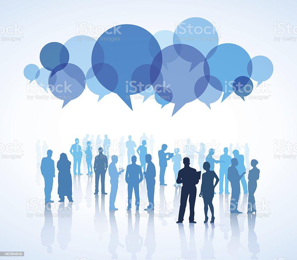 Vector of Communication Concept vector art illustration