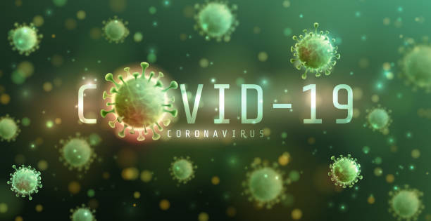 Vector of Coronavirus 2019-nCoV and Virus background with disease cells.COVID-19 Corona virus outbreaking and Pandemic medical health risk concept.Vector illustration eps 10 vector art illustration