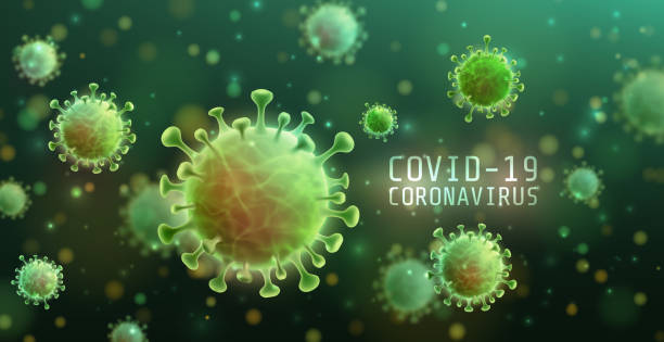 vector of coronavirus 2019-ncov and virus background with disease cells. covid-19 corona virus outbreaking and pandemic medical health risk concept. vector illustration eps 10 - covid stock illustrations