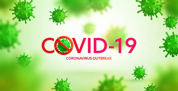 Vector of Coronavirus 2019-nCoV and Virus background with disease cells. Stop COVID-19 Corona virus outbreaking concept. Vector illustration eps 10 vector art illustration