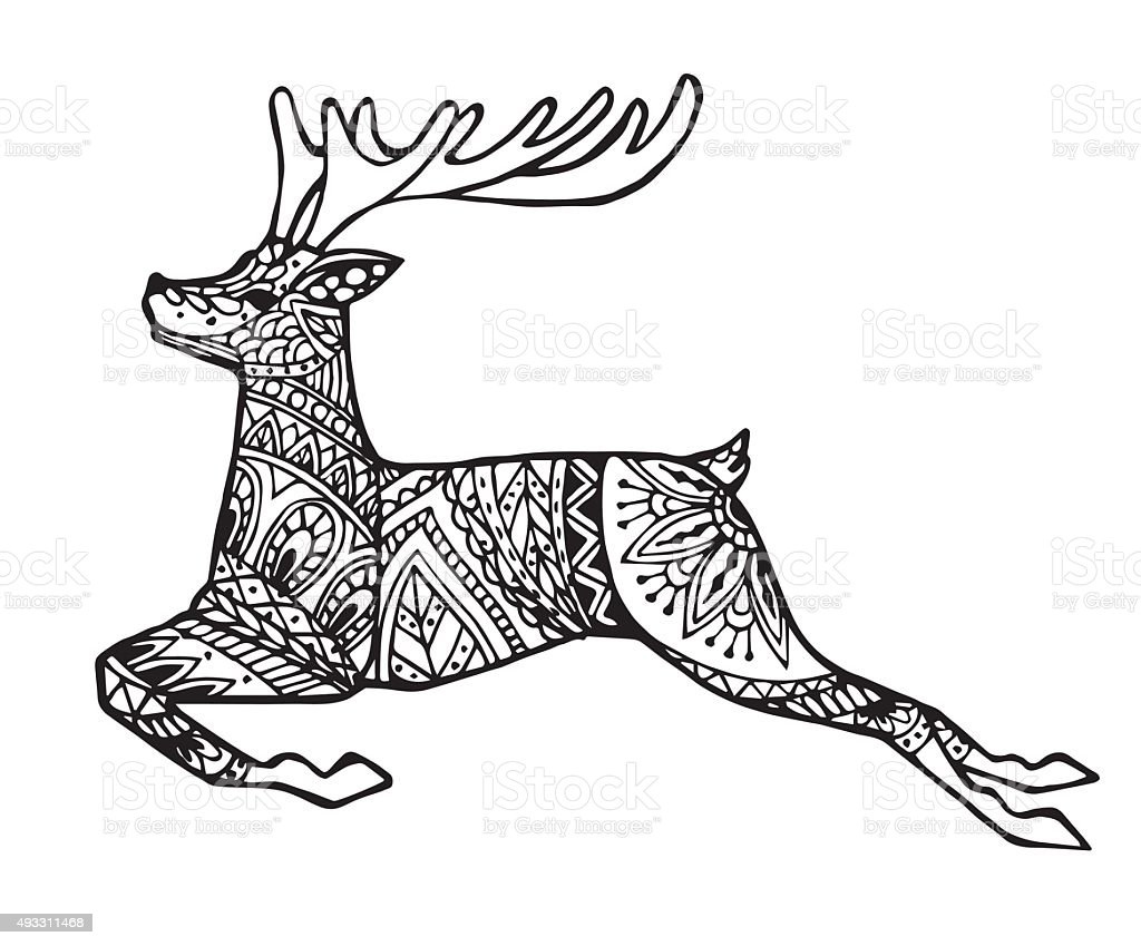 vector of deer or reindeer stock vector art more images. Black Bedroom Furniture Sets. Home Design Ideas