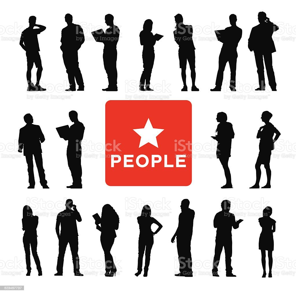 Vector of Diverse Business People vector art illustration