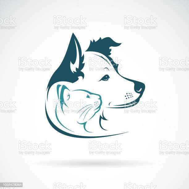 Vector of dog and cat head design on a white background pet animal vector id1053429364?b=1&k=6&m=1053429364&s=612x612&h= umoqzo0bgh5 ivlubrj2bqpckupwjk4gfbikeguafa=