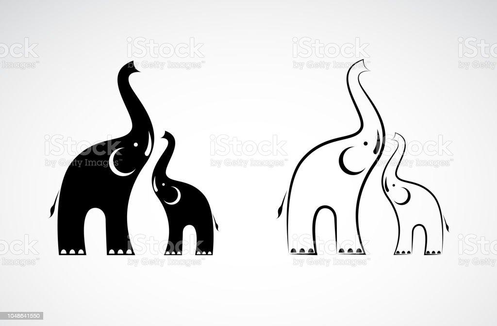 Ilustración de Vector De Diseño De Elefantes En Ilustración De Fondo ...