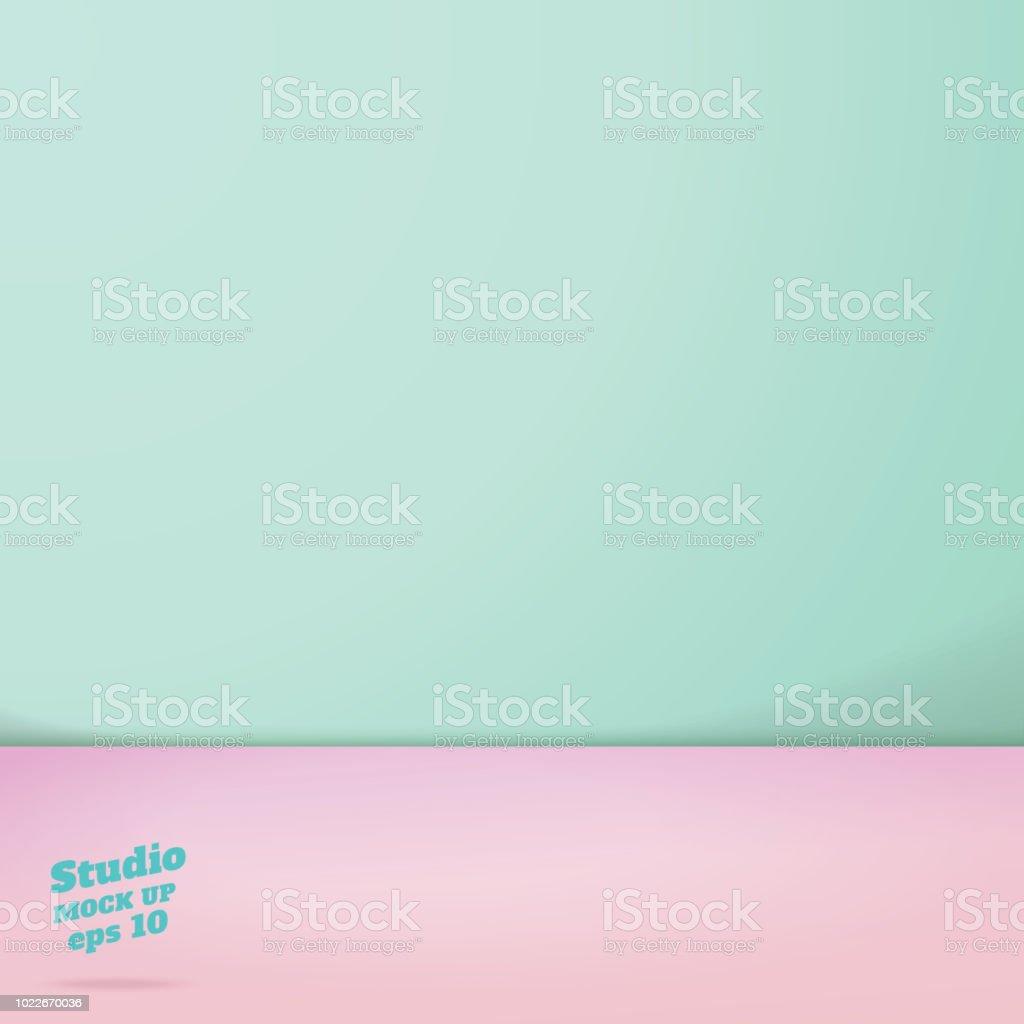 Vecteur De Vide Pastel Vert Et Rose Deux Tons De Couleur
