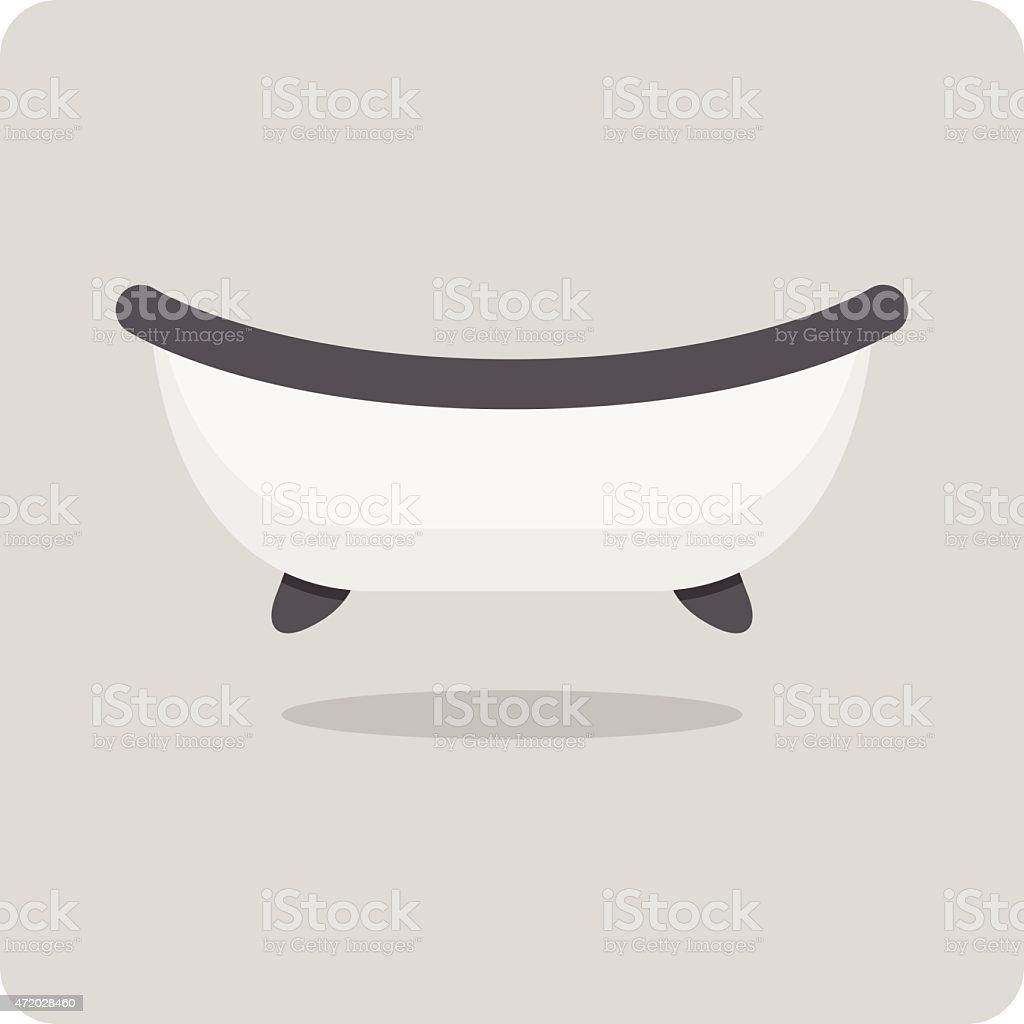Vector of flat icon, bathtub vector art illustration