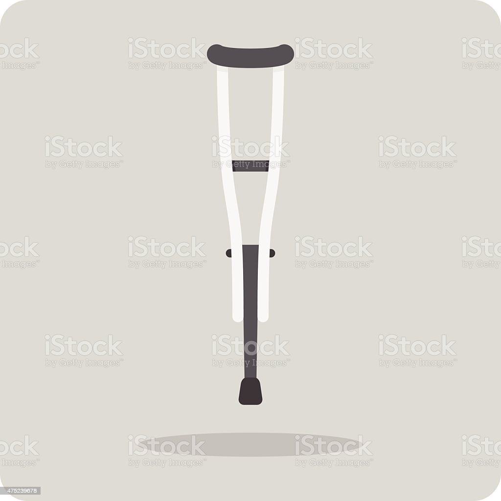 Vector of flat icon, crutches vector art illustration