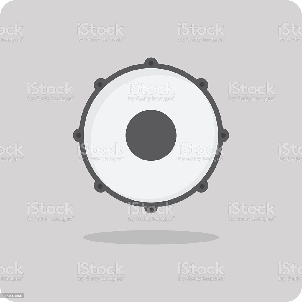 Vector of flat icon, drum vector art illustration