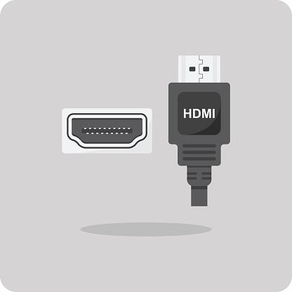 Vector of flat icon, HDMI connector