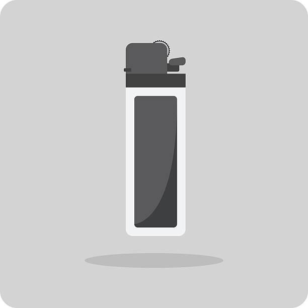vektor flache icon, feuerzeuge - feuerzeuggas stock-grafiken, -clipart, -cartoons und -symbole