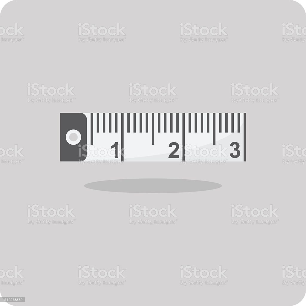 Vector of flat icon, Measuring tape