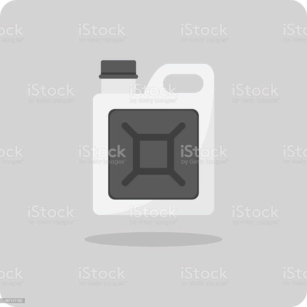 Vector of flat icon, Oil gallon vector art illustration