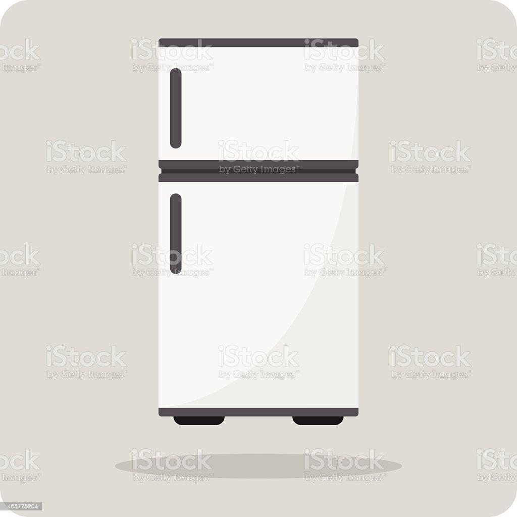 Vector of flat icon, refrigerator vector art illustration