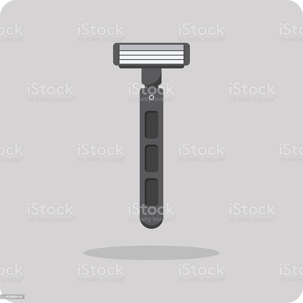 Vector of flat icon, shaving razor vector art illustration