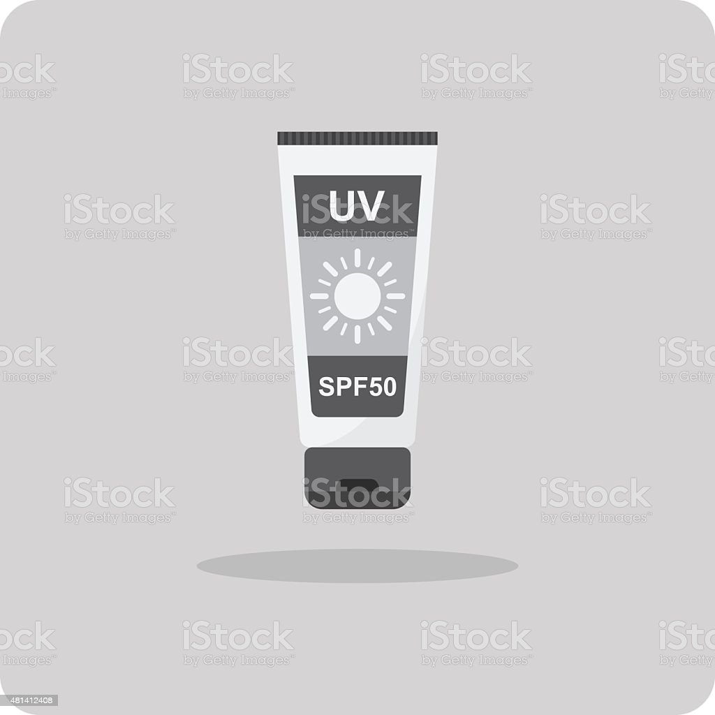 Vector of flat icon, sunscreen lotion vector art illustration