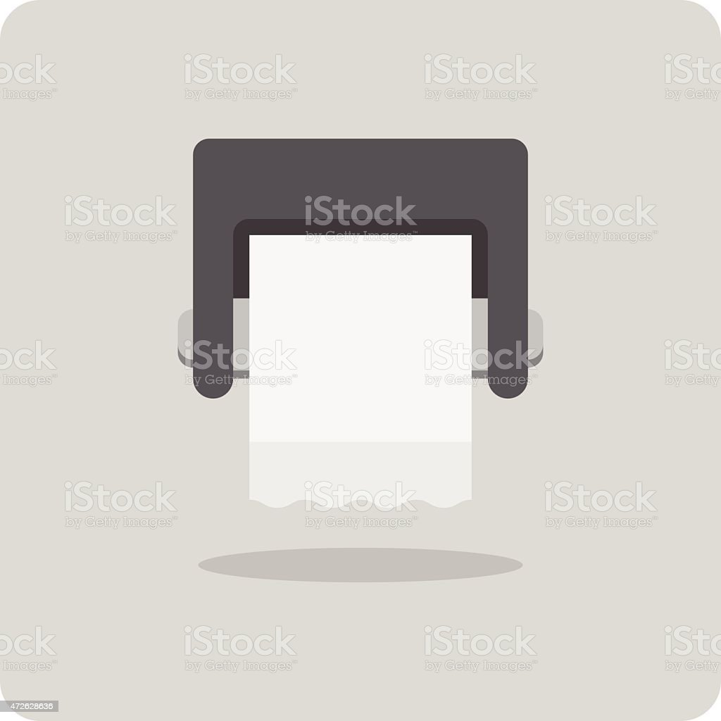 Vector of flat icon, toilet paper vector art illustration