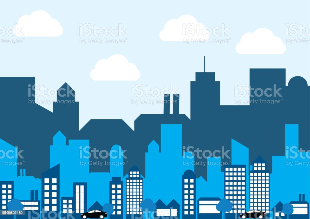 Vector of flat layer silhouette city royalty-free vector of flat layer silhouette city stock vector art & more images of architecture