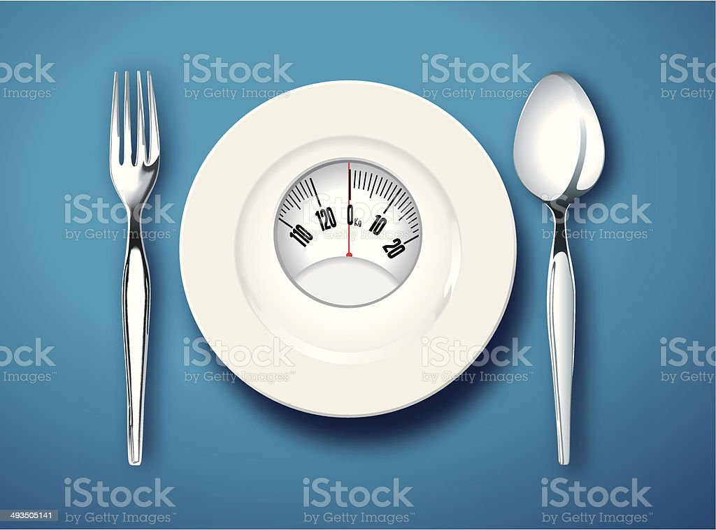 Vector of Food for diet concept vector art illustration