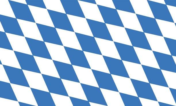 Vektor des freien Zustands der Bavaria Flagge – Vektorgrafik