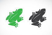 Vector of frogs design on white background. Amphibian. Animal. Easy editable layered vector illustration.