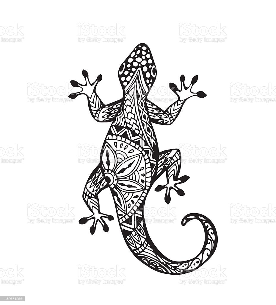 Vector Of Gecko Lizard Stock Vector Art  for House Lizard Drawing  76uhy