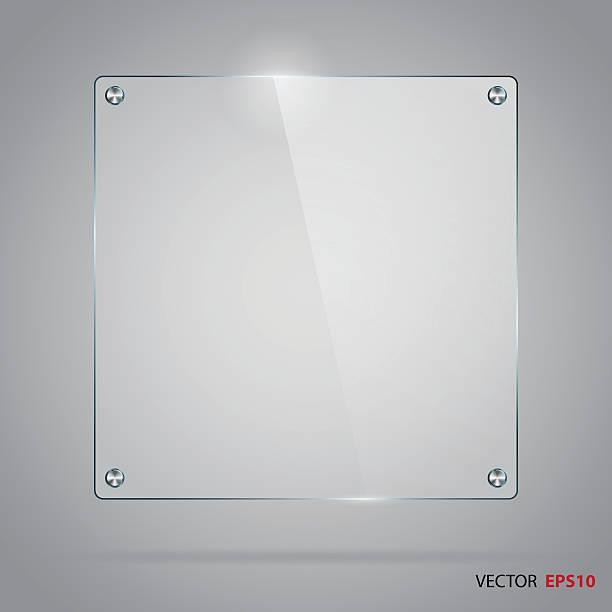 Vector of glass frame with steel rivets. vector art illustration