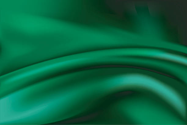 vector of green silk background - silk backgrounds stock illustrations, clip art, cartoons, & icons