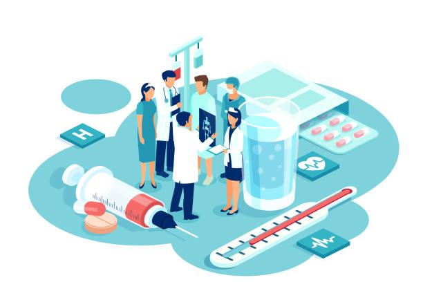 不同子專科醫生群體的病媒 集思廣益患者診斷和治療方案 - surgeon 幅插畫檔、美工圖案、卡通及圖標