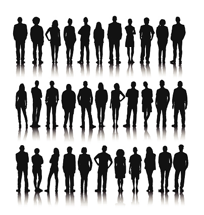 Vector of Group of World People Standing clipart