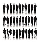 Vector of Group of World People Standing